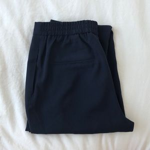 Zara navy blue ankle pants